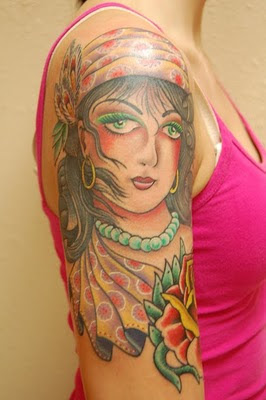 Gypsy Tattoo Design Female Arm Tattoo