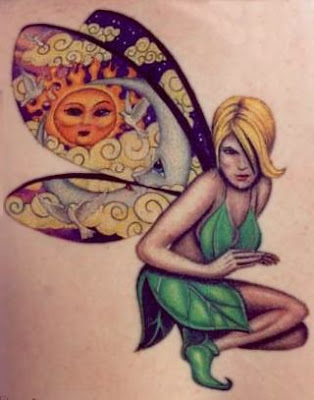 Fairy Girl Tattoo Design