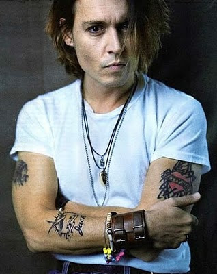 Tattooed Celebrities. Johnny Depp Celebrity Johnny Depp Arm Sleeves Tattoo