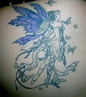 tattoo design art beautiful fairy tattoo design. Black Bedroom Furniture Sets. Home Design Ideas