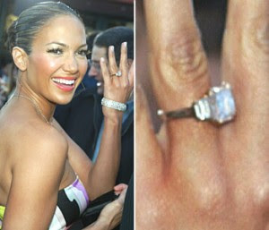 Hollywood Celebrity Jennifer Lopez Diamond Ring