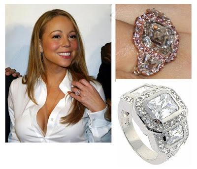 Celebrity Mariah Carey Diamong Ring