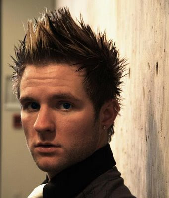 Nick Carter Fauxhawk Hairstyles for 2010 brown colour medium length hair for