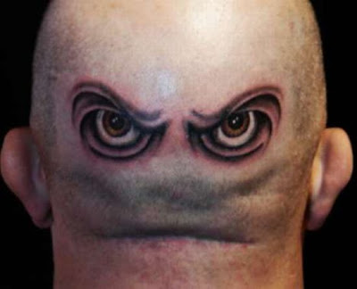 Eye Tattoo Design on Back Head