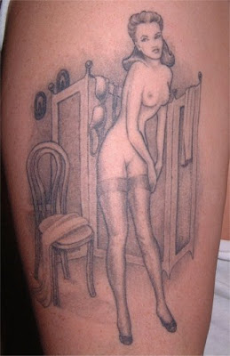 Sexy Pinup Girl Tattoo Design