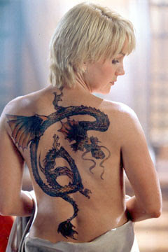 Dragon Tattoo on Sexy Girl Back Body