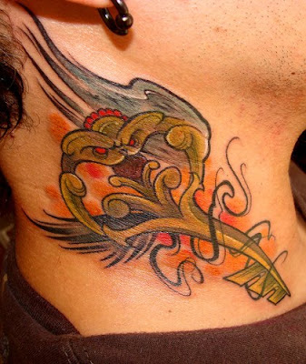 Cool Neck Tattoo Design