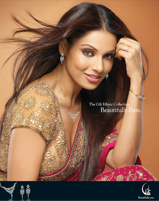 Bollywood Actress Bipasha Basu in Gili Designer Jewellery