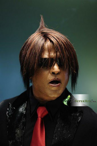 Superstar Rajnikanth Hairstyle Pics in Endhiran The Robot Tamil Movie