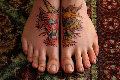 Tattooed Women - Feet Tattoo Design