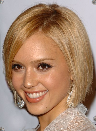 jessica alba hair highlights. Celebrity Jessica Alba