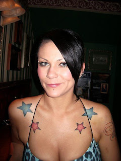 Tattooed Women - Color Stars tattoo Design