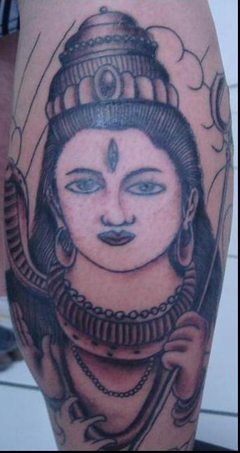 Hindu God Lord Shiva Tattoo Design