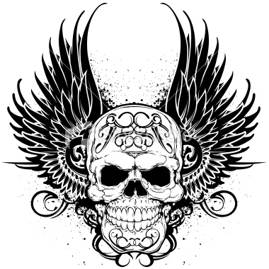 Skull Tattoo Ideas. Winged Skulls For Tattoos