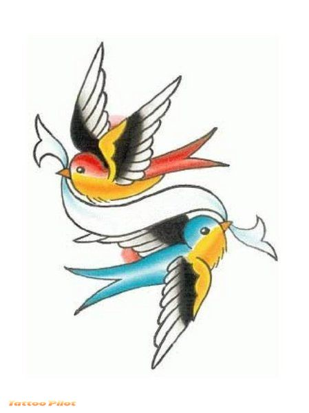 You can get plenty of bird tattoo designs on the internet. Old School Tattoo