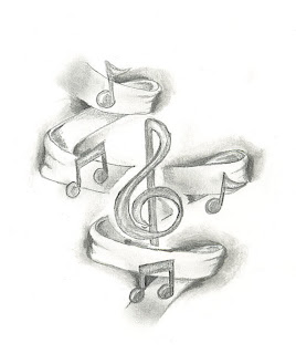 Music Themed Tattoos - Guitar Tattoos - Musical Notes Tattoo