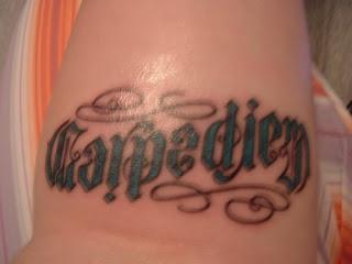 Carpe Diem Ambigram Tattoo Design