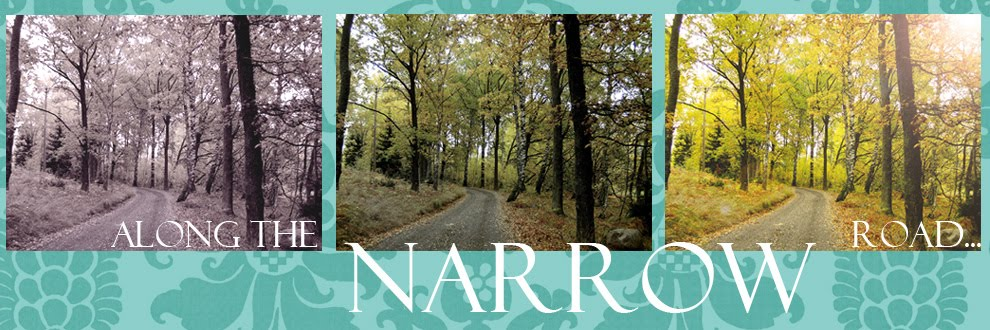 Along the narrow road.....