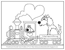 Poodle and Doodle Coloring Page