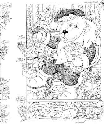 christmas coloring page by liz ball hidden pictures publishing