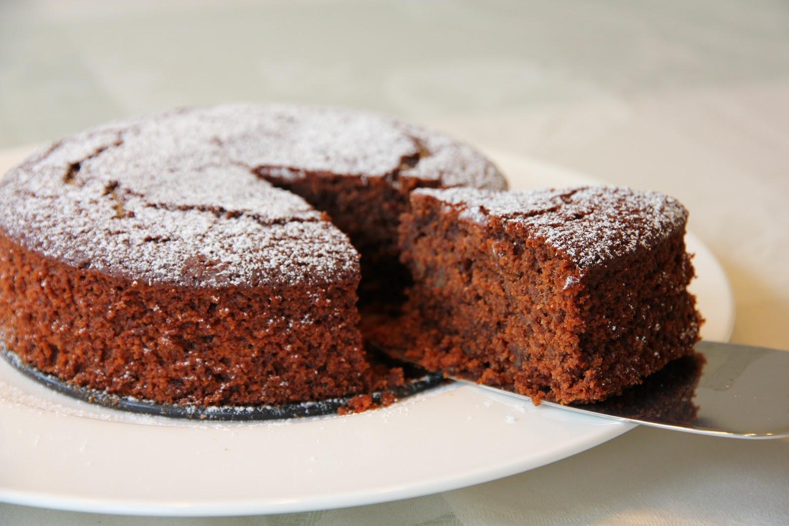 Veggi Fare: Chocolate Ginger Cake with Custard Sauce - Happy Birthday ...