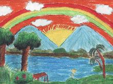 Gunung Berlambaikan Pelangi