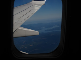 vue par le hublot de notre vol vers San Francisco