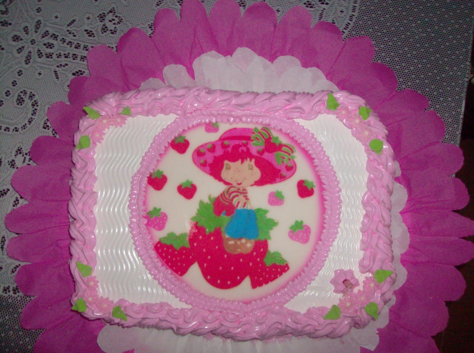 ... Tortas y Gelatinas Decoradas, Pasapalos, etc: Tierna Torta de Fresita