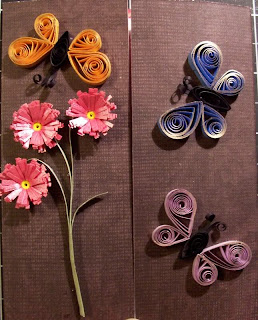 Paper quilling flower designs