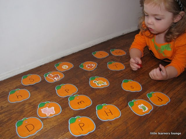 a Letter Matching Game by
