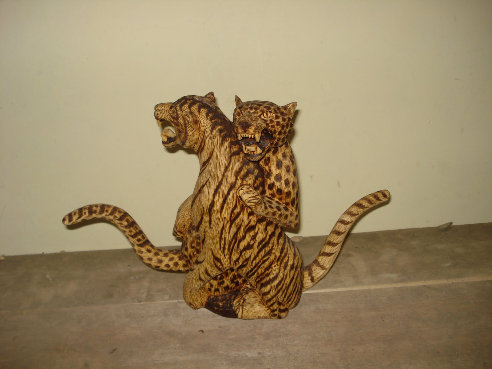 Wood carving animal
