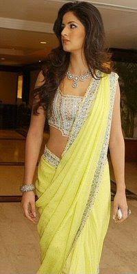 Katrina Kaif in yellow Designer Saree