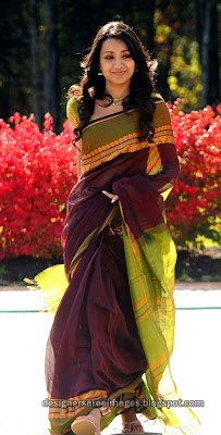 Trisha in cotton silk saree