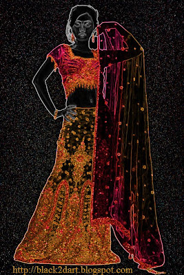 Ghagra Choli Indian Bridal Dress