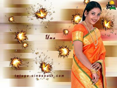 South Indian Actress Uma in Silk Saree