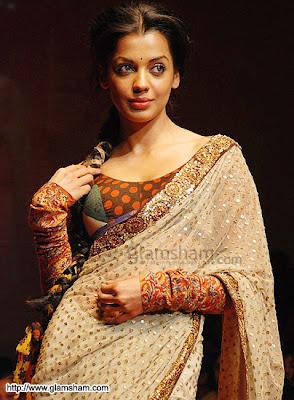 Model Mugdha Godse in Designer Saree