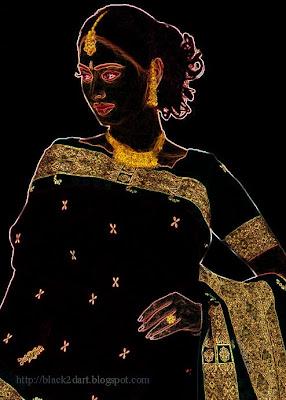 indian model posing in silk saree