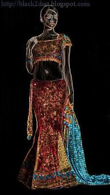 ghagra choli dress