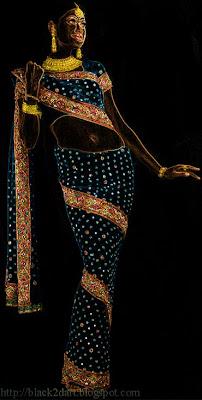 kundan work saree indian sari
