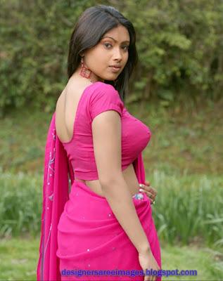 Actress Srijana in Pink Embroidery Saree