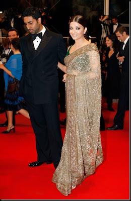 Aishwarya Rai in Designer Saree promoting her Film Raavan