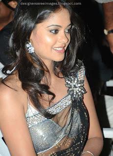 actress Bindu Madhavi in Bikini Style sari Blouse Design