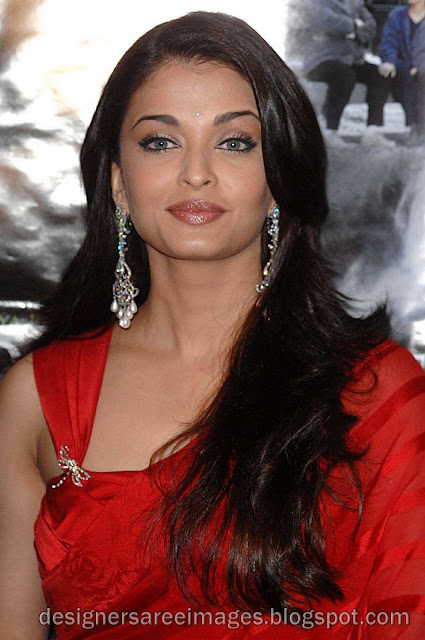 Aishwarya Rai in Red Designer Saree with Designer Sari Blouse still