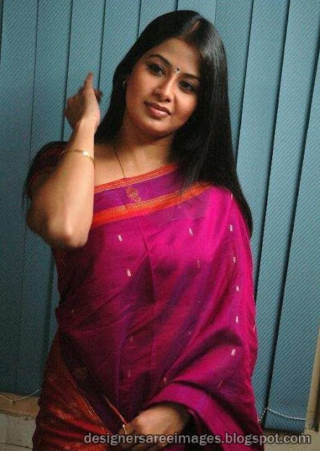 South Indian Actress Sangeetha in Silk Saree pictures