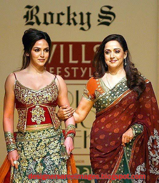 Hema Malini and Esha Deol in Designer Rocky S