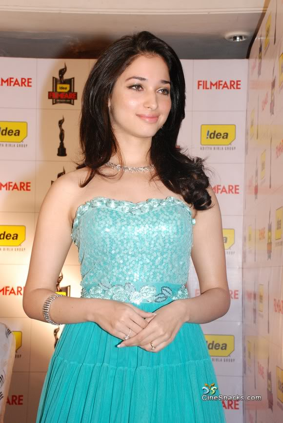 1 - Tamil Actress Tamannah in Blue Dress