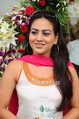 Actress Aksha in Sleeveless Salwar Kameez Pics
