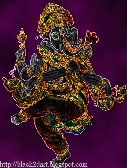 Lord Ganesha Dancing Photo