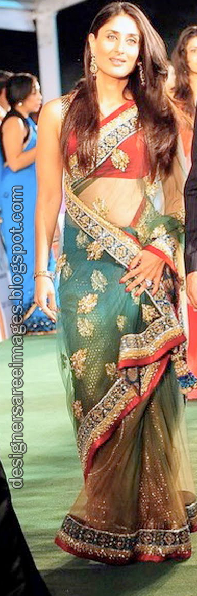 Kareena Kapoor in Manish Malhotra Saree at the IIFA 2010 Awards Function