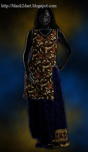 Indian Girl in Patiala Dress